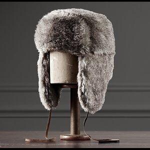 Unisex RH Faux Fur Ushanka Hat - Faux Wolf